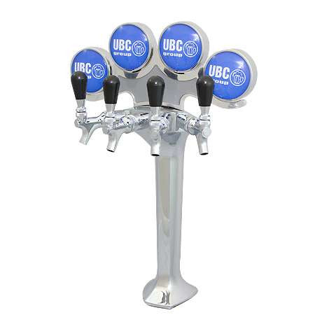 Image of Beer Tower MILANO 4 Chrome