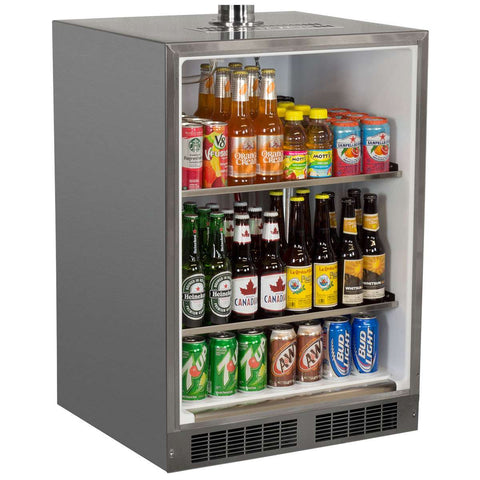 Marvel Indoor Built-In Kegerator, Dual Tap, Stainless Steel Door