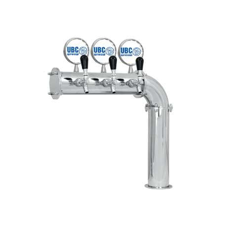 Beer Tower 3 Tap Stainless Elbow-style PERSEY 3, Glycol
