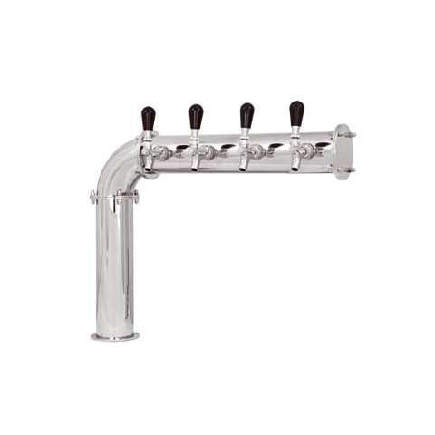 Beer Tower 4 Tap Stainless Elbow-style PERSEY 4, Glycol