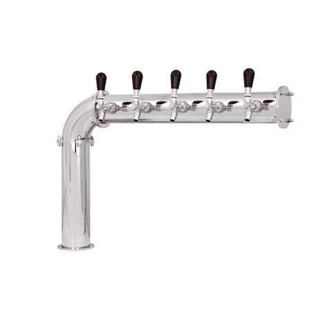 Beer Tower 5 Tap Stainless Elbow-style PERSEY 5, Glycol