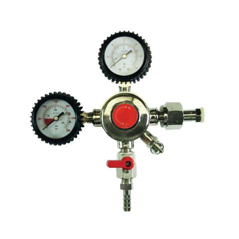 Dual Guage Regulator for CO2 - 60 psi