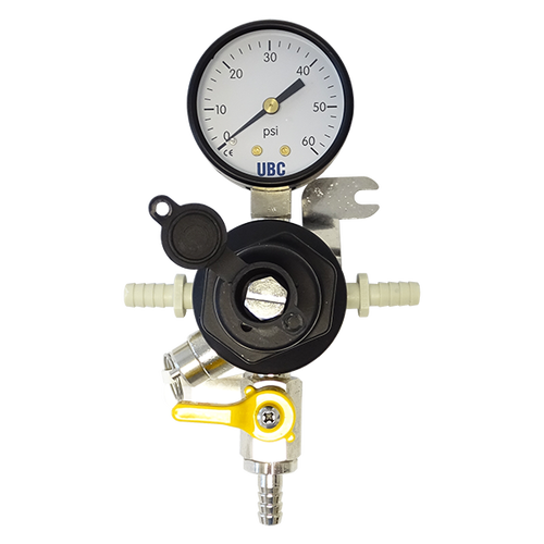 CO2 regulator, secondary, single gauge