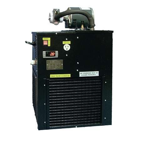 Image of UBC LCB3500 / LG3500 cold plate glycol chiller, side view