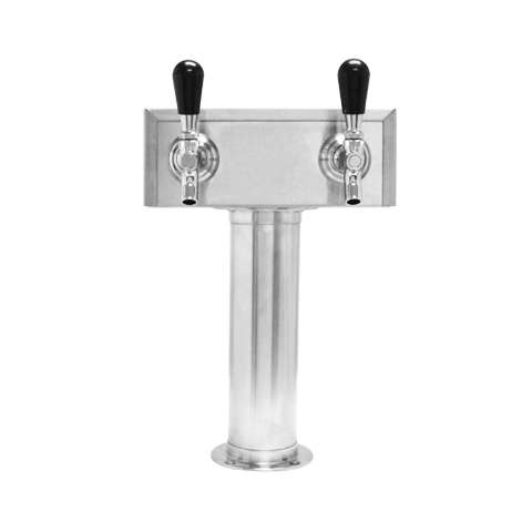 Beer Tower 2 Tap American T-Box, 3 Inch Pedestal, Air