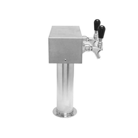Image of Beer Tower 2 Tap American T-Box, 3 Inch Pedestal, Air