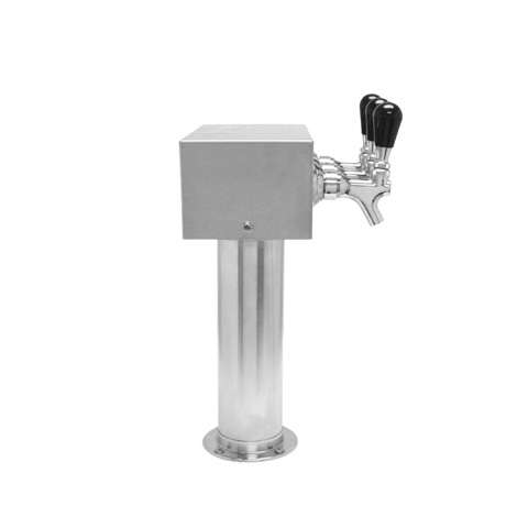 Beer Tower 3 Tap American T-Box, 3 Inch Pedestal, Air