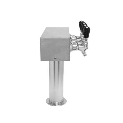 Beer Tower 4 Tap American T-Box, 3 Inch Pedestal, Air