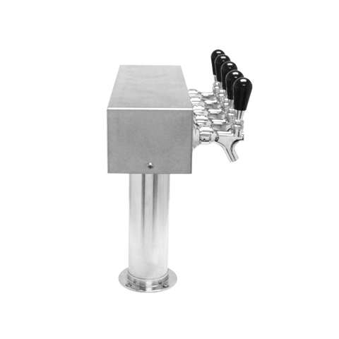 Image of Beer Tower 5 Tap American T-Box, 3 Inch Pedestal, Air