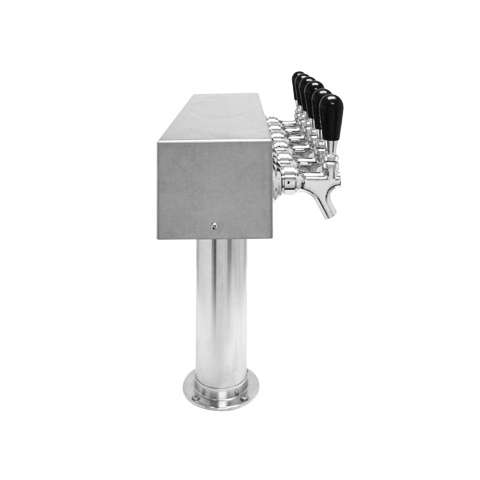 Beer Tower 6 Tap American T-Box, 3 Inch Pedestal, Air