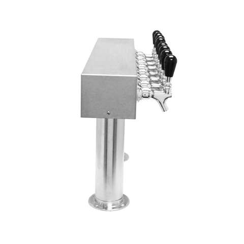 Beer Tower 8 Tap Pass-Thru, 3 Inch Pedestal, Glycol