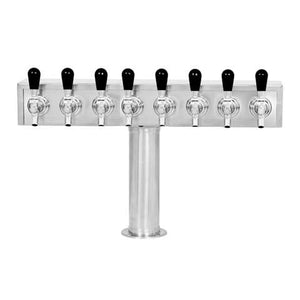 Beer Tower 8 Tap American T-Box, 3 Inch Pedestal, Glycol