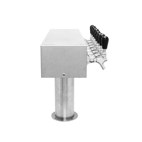 Beer Tower 8 Tap American T-Box, 4 Inch Pedestal, Air