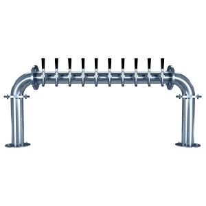 "Image of Biergarten ""U"" - 10 304 Faucets - Polished Stainless Steel - Glycol Cooled"