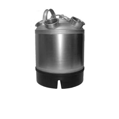 Cleaning Can Stainless Steel Two Valves - 2.4 Gallon