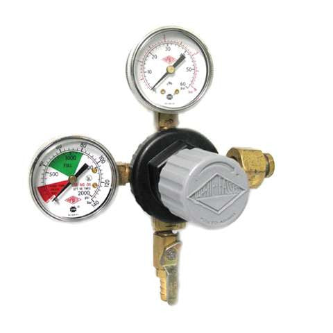 Dual Guage Regulator Co2 & Mixed Gas - Double Gauge 60 psi