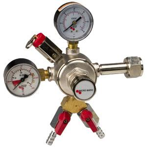 Double Gauge - CO2 Primary - 1 Pressure - 2 Kegs