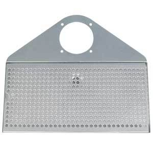 Image of Draft Beer Tower Drip Tray, Polished Stainless Steel, With Drain