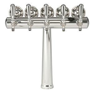 Image of Havana Chrome Tower w/Medallion - 5 Faucets - Chrome Finish - Glycol Ready