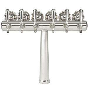Image of Havana Chrome Tower w/Medallion - 6 Faucets - Chrome Finish - Glycol Ready