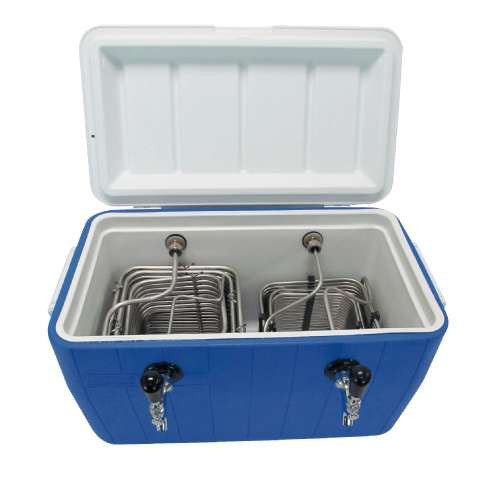 Image of Jockey Box Picnic Beer Cooler - 2 Kegs - 48Qt.