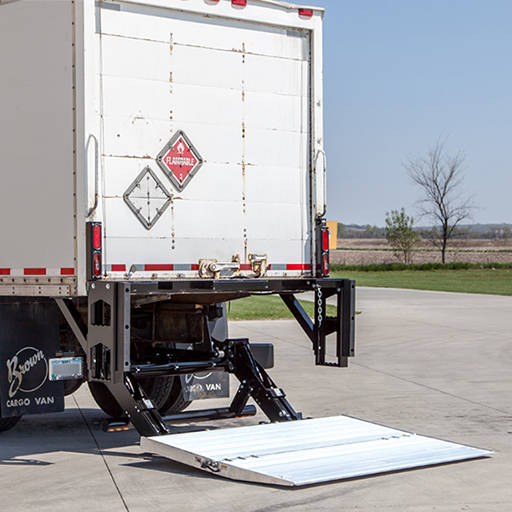 Lift gate service for freight shipments