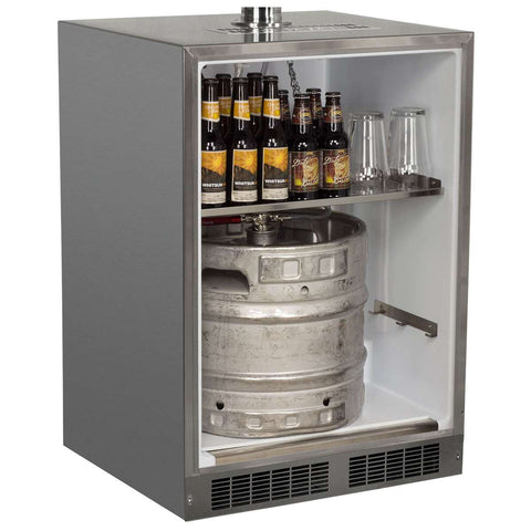 Marvel Outdoor Built-In Kegerator, Dual Tap, Stainless Steel Door