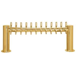 "Metropolis ""H"" - 12 Faucets - PVD Brass - Glycol Cooled"