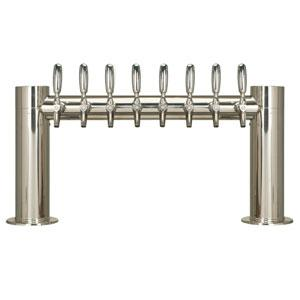 "Metropolis ""H"" - 8 304 Faucets - Polished Stainless Steel - Glycol Cooled"