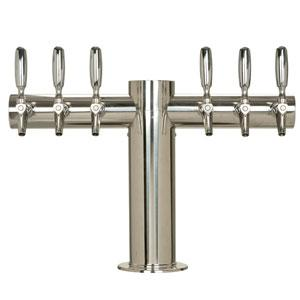 "Image of Metropolis ""T"" - 6 304 Faucets - Polished Stainless Steel - Glycol Cooled"