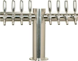 "Metropolis ""T""- 8 Faucets - Polished Stainless Steel - Glycol Cooled"