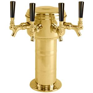 Mini Mushroom Tower - 4  304 Faucets - PVD Brass - Glycol Cooled