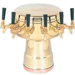 Mushroom Tower - 6 304 Faucets - PVD Brass - Glycol Cooled