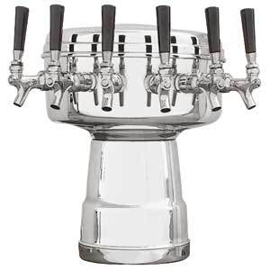Mushroom Tower - 6 Faucets - Polished Stainless Steel - Glycol Cooled