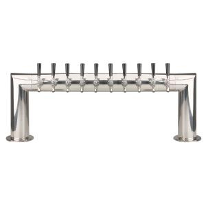 Pass Thru - 10 304 Faucet - Polished Stainless Steel - Glycol Cooled