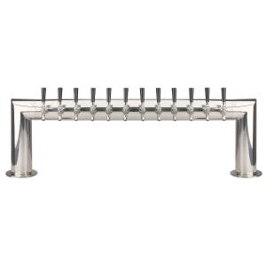 Pass Thru - 12 Faucet - Polished Stainless Steel - Air Cooled