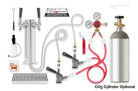 Premium - 2-tap Tower Kegerator Conversion Kit