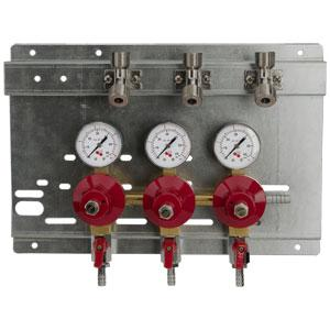 Secondary Regulator Panel - 3 Products - 3 Pressures