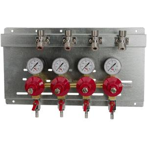 Secondary Regulator Panel - 4 Products - 4 Pressures