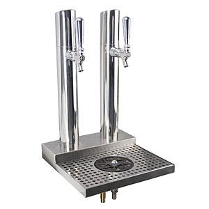Skyline Beer Station, 2 Faucet, Polished Stainless Steel