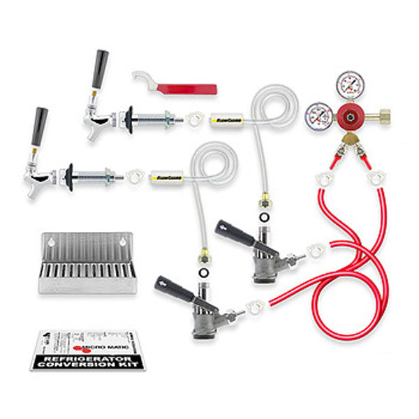 Standard - Door Kegerator Conversion Kit, 2 Keg