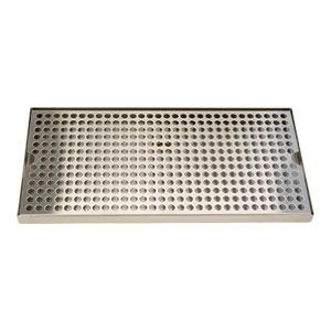"Surface Mount Drip Tray, 16"" x 8"" Stainless"