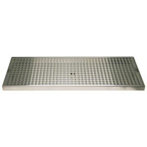 "Surface Mount Drip Tray, 20"" x 8"", Stainless"