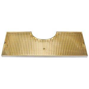 "Surface Mount Drip Tray - 7 7/8"" Cut-Out SS/PVD Brass"