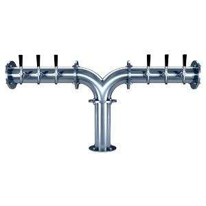 "Titan ""Y"" - 6 304 Faucets - Polished Stainless Steel - Glycol Cooled"