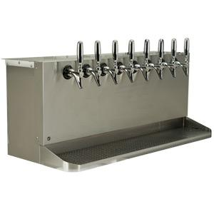 Under Bar Dispensing Cabinet - Glycol Cooled - 8 304 Faucets