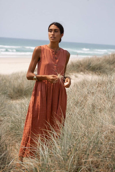 Nadi Dress ~ Terracotta