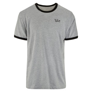 Straight Up Crested Ringer Tee - T-Shirts - Straight Up Apparel - Straight Up Apparel