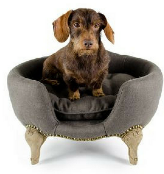 Antoinette Luxury Dog Bed - Grey