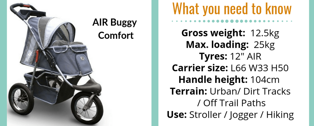 Buggy Comfort AIr Dog Stroller by Innopet